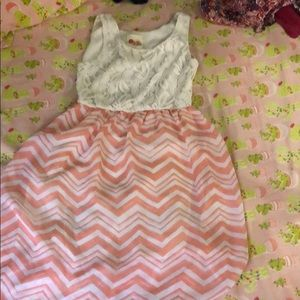 Other - White and peach dress for girls